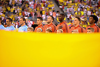 East Rutherford, NJ - Friday June 17, 2016: Colombia  during a Copa America Centenario quarterfinal match between Peru (PER) vs Colombia (COL) at MetLife Stadium.