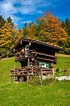 Deutschland, Bayern, Oberbayern, Berchtesgadener Land, Berchtesgaden: ein uriges Ferienhaeuschen | Germany, Upper Bavaria, Berchtesgadener Land, Berchtesgaden: a romantic holiday home