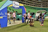 PALMIRA - COLOMBIA, 29-12-2020: Deportivo Cali y Millonarios F.C. en partido por el repechaje de la Liguilla BetPlay DIMAYOR 2020 jugado en el estadio Deportivo Cali de la ciudad de Palmira. / Deportivo Cali and Millonarios F.C. in match for the repechage as part of BetPlay DIMAYOR 2020 Liguilla played at Deportivo Cali stadium in Palmira city.  Photo: VizzorImage / Gabriel Aponte / Staff