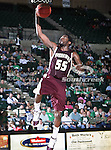 University of Louisiana at Monroe Warhawks guard Fred Brown (55) in action during the NCAA  basketball game between the University of Louisiana at Monroe Warhawks and the University of North Texas Mean Green at the North Texas Coliseum,the Super Pit, in Denton, Texas. ULM defeated UNT 82 to 75...
