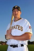 Feb 28, 2010; Bradenton, FL, USA; Pittsburgh Pirates  infielder Doug Bernier (82) during  photoday at Pirate City. Mandatory Credit: Tomasso De Rosa/ Four Seam Images