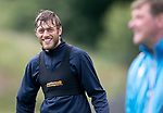 St Johnstone Training….09.08.18<br />Murray Davidson and Tommy Wright pictured during training at McDiarmid Park ahead of Sunday's game against Hibs<br />Picture by Graeme Hart.<br />Copyright Perthshire Picture Agency<br />Tel: 01738 623350  Mobile: 07990 594431