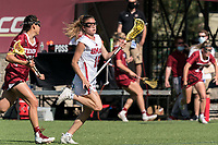 NEWTON, MA - MAY 14: Hannah Heller #16 of University of Massachusetts brings the ball forward during NCAA Division I Women's Lacrosse Tournament first round game between University of Massachusetts and Temple University at Newton Campus Lacrosse Field on May 14, 2021 in Newton, Massachusetts.