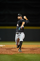 Jupiter Hammerheads relief pitcher Lukas Schiraldi (40) during a Florida State League game against the Florida Fire Frogs on April 8, 2019 at Osceola County Stadium in Kissimmee, Florida.  Florida defeated Jupiter 7-6 in ten innings.  (Mike Janes/Four Seam Images)