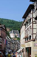 Altes Rathaus, Mildenburg und Hauptstaße, Miltenberg in Unterfranken, Bayern, Deutschland