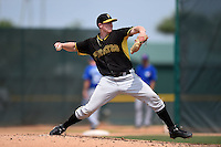 Pittsburgh Pirates pitcher Henry Hirsch (90) during a minor league spring training game against the Toronto Blue Jays on March 26, 2015 at Pirate City in Bradenton, Florida.  (Mike Janes/Four Seam Images)