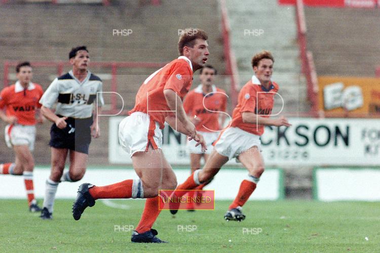 04/091990 Rumbelows Cup, First Round 2nd Leg. Blackpool v Darlington<br /> <br /> Gary Brook