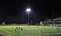 Players warming up before a female soccer game between FC Femina White Star Woluwe and AA Gent Ladies on the 13 th matchday of the 2020 - 2021 season of Belgian Scooore Womens Super League , friday 5 th of February 2021  in Woluwe , Belgium . PHOTO SPORTPIX.BE | SPP | SEVIL OKTEM
