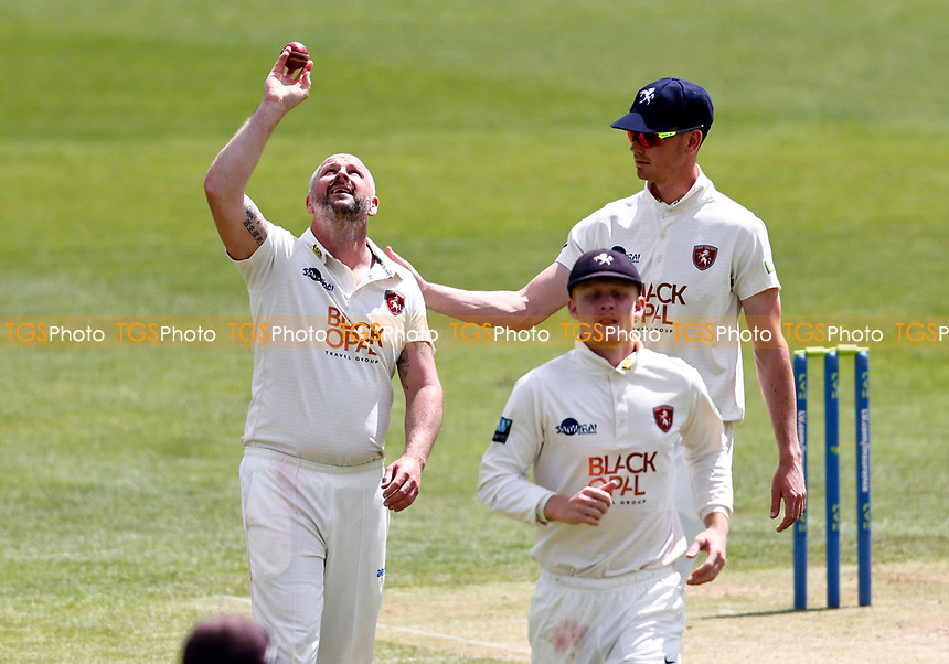 Darren Stevens celebrates taking five wickets for Kent during Kent CCC vs Northamptonshire CCC, LV Insurance County Championship Group 3 Cricket at The Spitfire Ground on 5th June 2021