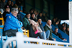 Stocksbridge fans in the Jamie Vardy Stand. Stocksbridge Park Steels v Pickering Town,  Evo-Stik East Division, 17th November 2018. Stocksbridge Park Steels were born from the works team of the local British Steel plant that dominates the town north of Sheffield.<br /> Having missed out on promotion via the play offs in the previous season, Stocksbridge were hovering above the relegation zone in Northern Premier League Division One East, as they lost 0-2 to Pickering Town. Stocksbridge finished the season in 13th place.