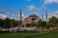 Istanbul's Hagia Sophia Church, Aya Sofya Mosque, Turkey