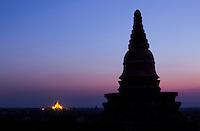 sunset over Bagan, Myanmar
