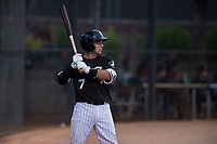 AZL White Sox designated hitter Nick Madrigal (7) on deck during an Arizona League game against the AZL Diamondbacks at Camelback Ranch on July 12, 2018 in Glendale, Arizona. The AZL Diamondbacks defeated the AZL White Sox 5-1. (Zachary Lucy/Four Seam Images)