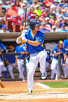 Wisconsin Timber Rattlers designated hitter Keston Hiura (15) at bat during a Midwest League game against the Cedar Rapids Kernels on August 6, 2017 at Fox Cities Stadium in Appleton, Wisconsin.  Cedar Rapids defeated Wisconsin 4-0. (Brad Krause/Four Seam Images)