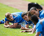 Lewis Macleod and Nicky Clark