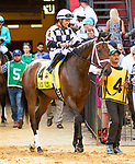 MAYL 17, 2019 : Mylady Curlin, ridden by Luis Saez, wins the Allaire Dupont Distaff Stakes at Pimlico Racecourse, on May 17, 2019 in Baltimore, MD.  Sue Kawczynski_ESW_CSM