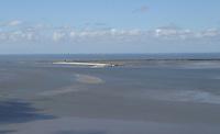 Blick auf Wangerooge - Wangerooge 20.07.2020: Flug nach Wangerooge