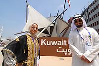 Milan 30 May 2015<br /> EXPO 2015. Stand del Kuwait. Nella fotografia membri dello staff in abiti tradizionali.<br /> Stand of Kuwait. In the picture staff members in traditional clothes.<br /> Photo Livio Senigalliesi