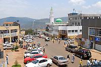 Rwanda Kigali , business offices and mosque in center /Ruanda Kigali , Geschaefte und Moschee im Stadtzentrum