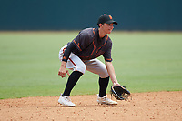 Shortstop Jake Mummau (14) of Palm Harbor University HS in Palm Harbor, FL playing for the San Francisco Giants scout team during the East Coast Pro Showcase at the Hoover Met Complex on August 3, 2020 in Hoover, AL. (Brian Westerholt/Four Seam Images)