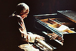 Cuban pianist Ruben Gonzalez plays his piano during a concert in the Mexico City's Hard Rock Cafe, on September 4, 1998. Gonzalez was part of the Buenavista Social Club wich grouped most of the famous traditional Cuban musicians like Ibrahim Ferrer, Compay Segundo, Omara Portuondo, between others. Photo by Heriberto Rodriguez