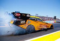 Apr 14, 2019; Baytown, TX, USA; NHRA funny car driver J.R. Todd during the Springnationals at Houston Raceway Park. Mandatory Credit: Mark J. Rebilas-USA TODAY Sports