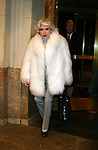 CAROL CHANNING<br /> Leaving the Essex House Hotel for the<br /> premiere of NICHOLAS NICKLEBY at the<br /> Beekman Theatre, New York City.<br /> December 17, 2002