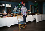 """jeff Wise attends the Birthday Party Photo Call for the Wheelhouse Theater Company production of Kurt Vonnegut's """"Happy Birthday, Wanda June""""  on October 3, 2018 at Bond 45 Times Square in New York City."""