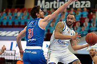 18-05-2021: Basketbal: Donar Groningen v Heroes Den Bosch: Groningen, Donar speler Davonte Lacy in duel met Den Bosch speler Thomas van der Mars
