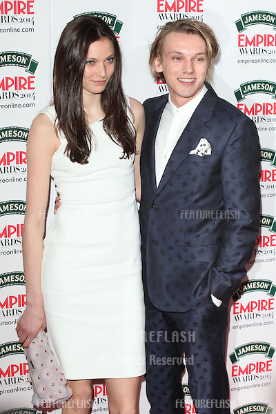 Jamie Campbell Bower and Matilda Lowther arriving for the 2014 Empire Film Awards, at the Grosvenor House Hotel, London. 30/03/2014 Picture by: Alexandra Glen / Featureflash