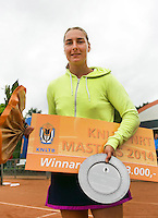 August 17, 2014, Netherlands, Raalte, TV Ramele, Tennis, National Championships, NRTK,  womens final :Winner Danielle Harmsen (NED) with trophy<br /> Photo: Tennisimages/Henk Koster