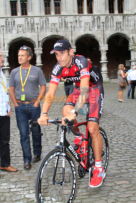 George Hincapie (USA) BMC Racing Team at the Team Presentation Ceremony before the 2012 Tour de France in front of The Palais Provincial, Place Saint-Lambert, Liege, Belgium. 28th June 2012.<br /> (Photo by Eoin Clarke/NEWSFILE)