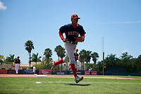 GCL Red Sox Angel Maita (22) during a Gulf Coast League game against the GCL Orioles on July 29, 2019 at Ed Smith Stadium in Sarasota, Florida.  GCL Red Sox defeated the GCL Pirates 9-1.  (Mike Janes/Four Seam Images)