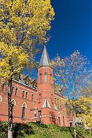 Samuel Curtis Johnson Hall,  School of Management on the campus of Cornell University, Ithaca, New York, USA