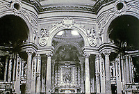 Interior of San Lorenzo, also known as the Royal Church of Saint Lawrence, a Baroque-style church in Turin.  Designed and built by Guarino Guarini during 1668–1687.