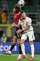 Marcos Alonso of Spain and Benjamin Pavard of France   during the Uefa Nations League final football match between Spain and France at San Siro stadium in Milano (Italy), October 10th, 2021. Photo Andrea Staccioli / Insidefoto