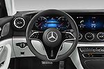 Car pictures of steering wheel view of a 2022 Mercedes Benz CLS-Coupe AMG-Line 4 Door Sedan Steering Wheel
