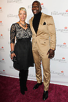 HOLLYWOOD, LOS ANGELES, CA, USA - OCTOBER 09: Rebecca King-Crews, Terry Crews arrive at the Eva Longoria Foundation Dinner held at Beso Restaurant on October 9, 2014 in Hollywood, Los Angeles, California, United States. (Photo by Celebrity Monitor)