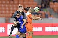 Houston, TX - Sunday Sept. 25, 2016: Haley Kopmeyer, Carli Lloyd during a regular season National Women's Soccer League (NWSL) match between the Houston Dash and the Seattle Reign FC at BBVA Compass Stadium.