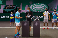 Rotterdam, The Netherlands,7 march  2021, ABNAMRO World Tennis Tournament, Ahoy,  <br /> Doubles final: runners up Kevin Krawietz (GER) / Horia Tecau (ROU).<br /> Photo: www.tennisimages.com/henkkoster