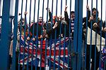 06.03.2021 Rangers v St Mirren: Rangers fans at the gates