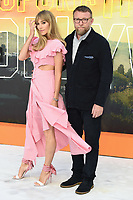 """LONDON, UK. July 30, 2019: Jacqui Ritchie & Guy Ritchie at the UK premiere for """"Once Upon A Time In Hollywood"""" in Leicester Square, London.<br /> Picture: Steve Vas/Featureflash"""