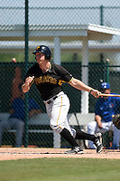 Pittsburgh Pirates Michael Suchy (19) during a minor league spring training game against the Toronto Blue Jays on March 21, 2015 at Pirate City in Bradenton, Florida.  (Mike Janes/Four Seam Images)