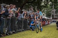 "Romain Bardet (FRA/AG2R-LaMondiale) on the Yellow Brick Road<br /> <br /> ""Le Grand Départ"" <br /> 104th Tour de France 2017 <br /> Team Presentation in Düsseldorf/Germany"