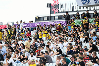3rd January 2021; Campbelltown Stadium, Leumeah, New South Wales, Australia; A League Football, Macarthur FC versus Central Coast Mariners; The travelling Mariners fans celebrate as their team takes a 2-0 lead in the 89th minute