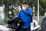 St Johnstone v Dundee United…22.08.21  McDiarmid Park    SPFL<br />Glenn Middleton arrives ahead of today's game against Dundee United<br />Picture by Graeme Hart.<br />Copyright Perthshire Picture Agency<br />Tel: 01738 623350  Mobile: 07990 594431
