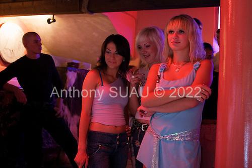 """Odessa, Ukraine.August 27, 2005 ..Odessa's fashionable """"Itaka"""" nightclub on the """"Arkadia"""" beach."""