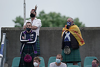 6th June 2021, Stade Josy Barthel, Luxemburg; International football friendly Luxemburg versus Scotland;  Fans of Scotland in Kilts