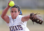 Ali Lostra pitches for the Western Nevada Wildcats in a college softball game against Colorado Northwestern Community College in Carson City, Nev., on Friday, Feb. 22, 2013..Photo by Cathleen Allison/Nevada Photo Source