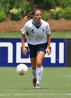 Cat Whitehill runs with the ball. The USA defeated Canada 2-0 at SAS Stadium in Cary, NC on Sunday, July 30, 2006.